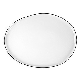 canvas home™ Abbesses 13.5-Inch Oval Platter in Black