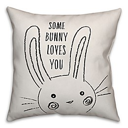 Designs Direct Some Bunny Loves You Square Throw Pillow