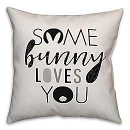 Designs Direct Some Bunny Loves You Shadow Square Throw Pillow
