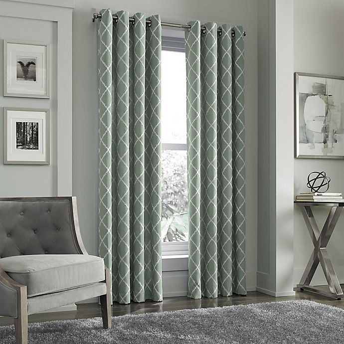 Alternate image 1 for J. Queen New York™ Adorn Grommet Top Embroidered Window Curtain Panel