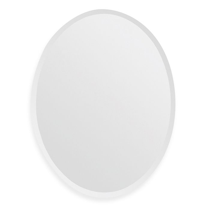 Alternate image 1 for Ren-Wil All-Glass 28-Inch x 22-Inch Oval Mirror