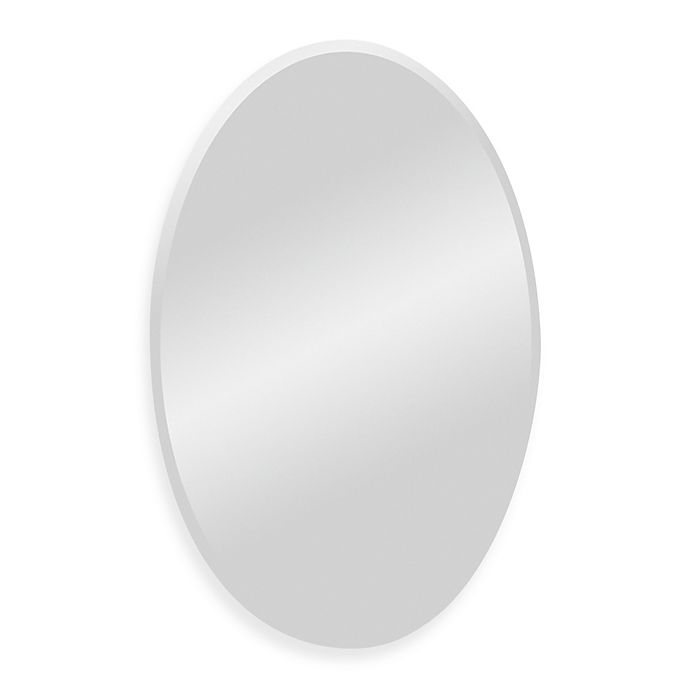 Alternate image 1 for Ren-Wil All-Glass Oval Mirror