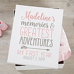 Baby Girl Boho Personalized Keepsake Memory Box