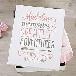 Baby Girl Boho Personalized Keepsake Memory Box
