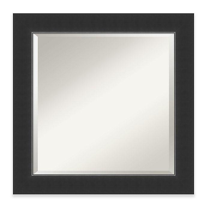 Alternate image 1 for Amanti Art Corvino 25-Inch Square Bathroom Vanity Mirror in Black