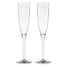 kate spade new york Key Court™ Champagne Flutes (Set of 2)