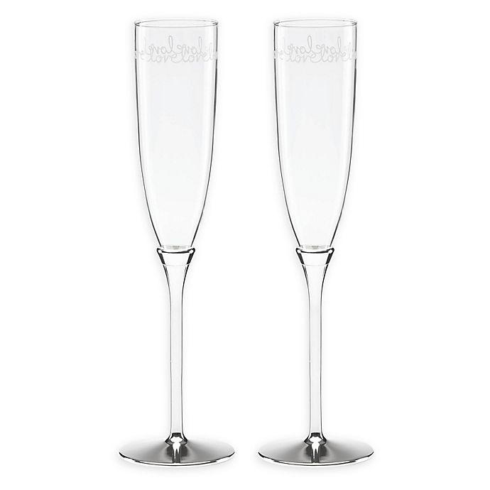 Kate Spade New York Key Court Champagne Flutes Set Of 2 Bed Bath Beyond