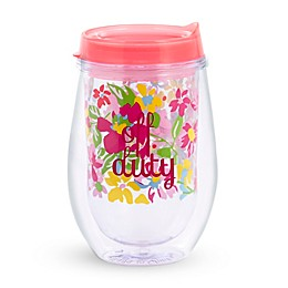 Vera Bradley® Pretty Posies Stemless Wine Tumbler with Lid