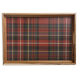 Bee & Willow™ Home Plaid 19.7-Inch Handled Serving Tray