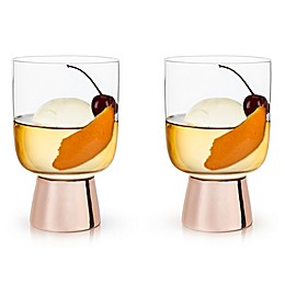 Viski® Raye Tumblers in Copper (Set of 2)