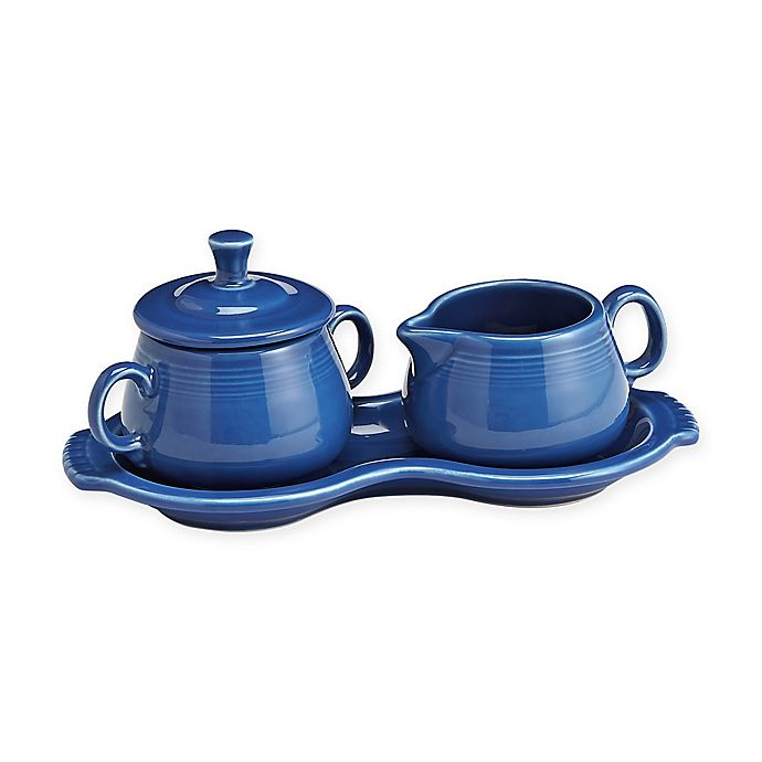 Alternate image 1 for Fiesta® Sugar and Creamer Set with Tray in Lapis