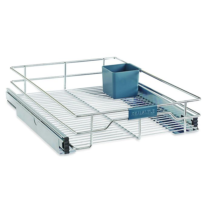 Alternate image 1 for Real Simple® Sliding Under-Cabinet Organizer in Chrome