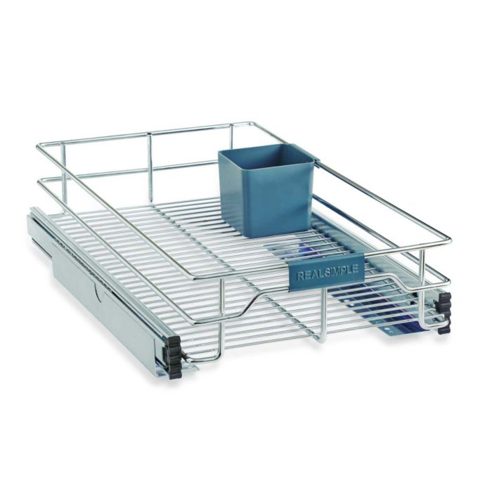 Real Simple Sliding Under Cabinet Organizer In Chrome Bed Bath Beyond