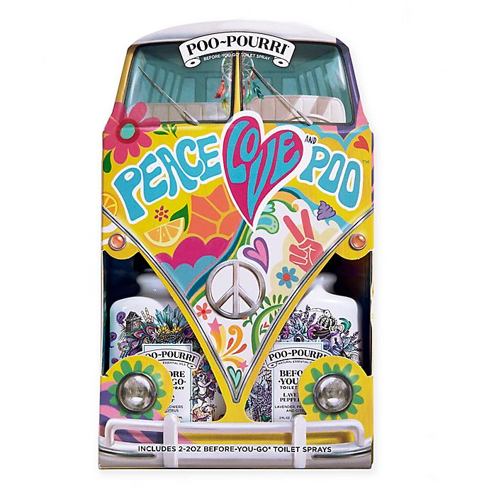 Alternate image 1 for Poo-Pourri® Before-You-Go® Toilet Spray Peace Love & Poo Gift Set (Set of 2)