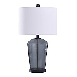 Bee & Willow™ Home Majorca Table Lamp in Dark Blue with Cotton Drum Shade