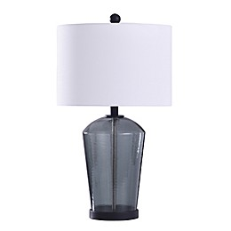 Bee & Willow™ Majorca Table Lamp in Dark Blue with CFL Bulb and Drum Shade
