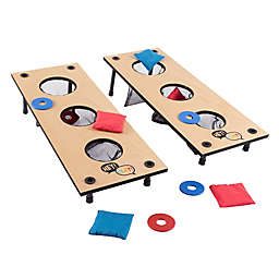 Hey! Play! 2-in-1 Pitch and Beanbag Toss Set in Red/Blue