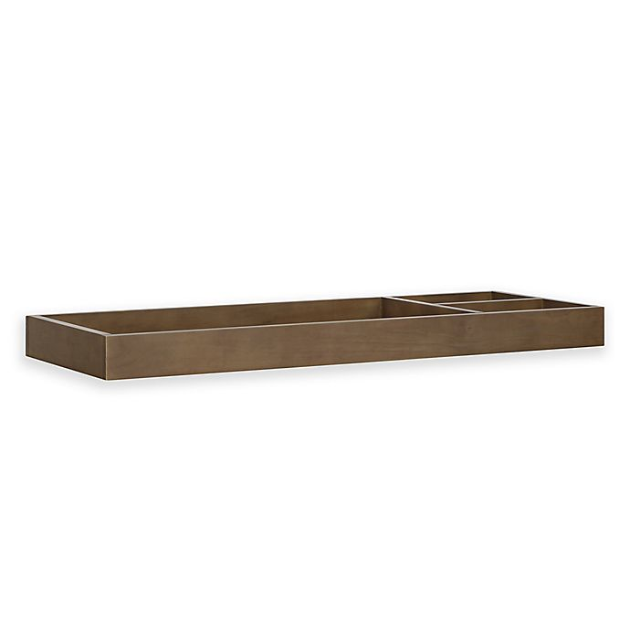Alternate image 1 for Davinci Universal Wide Removable Changing Tray in Mocha