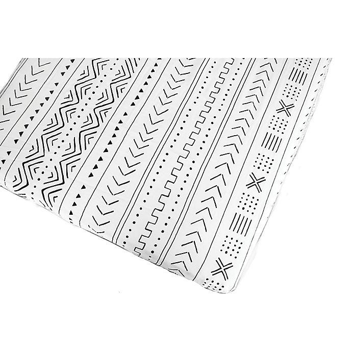 Alternate image 1 for Loulou Lollipop® Mudcloth Crib Sheet