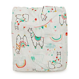 Loulou Lollipop® Llama Crib Sheet