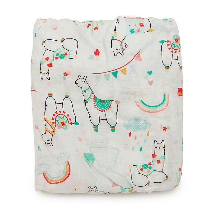 Alternate image 1 for Loulou Lollipop® Llama Crib Sheet