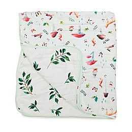 Loulou Lollipop Woodland Gnome Deluxe Muslin Baby Quilt