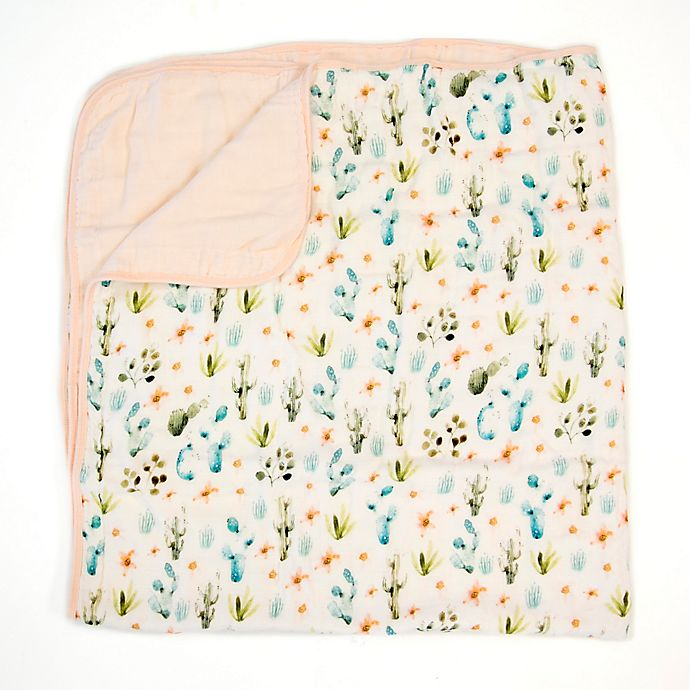 Alternate image 1 for Loulou Lollipop Cactus Floral Deluxe Muslin Baby Quilt