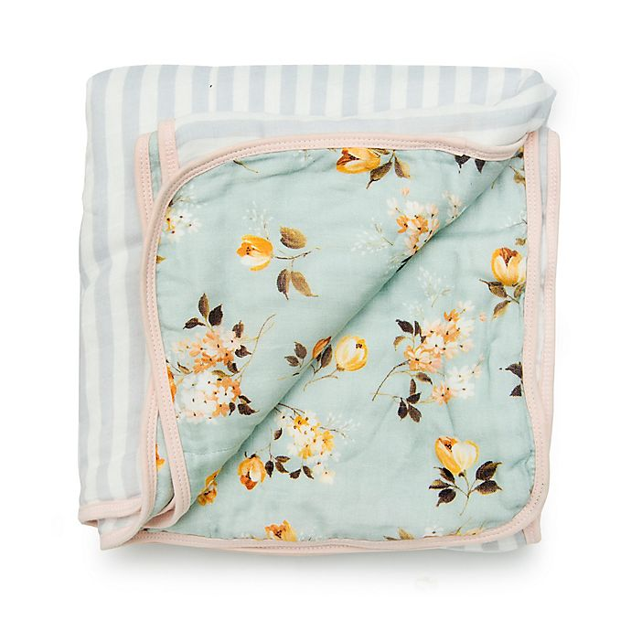 Alternate image 1 for Loulou Lollipop Wild Rose Deluxe Muslin Baby Quilt