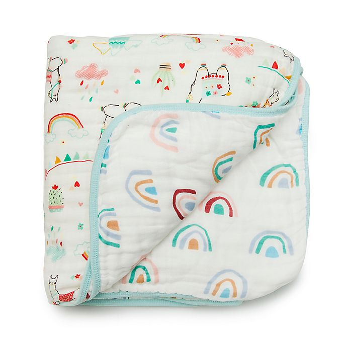 Alternate image 1 for Loulou Lollipop Llama Deluxe Muslin Baby Quilt