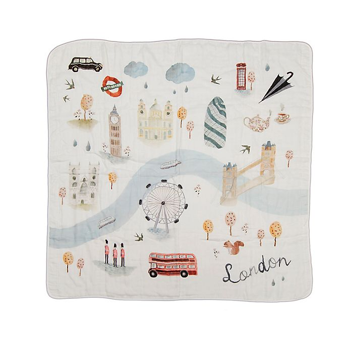 Alternate image 1 for Loulou Lollipop London Deluxe Muslin Baby Quilt