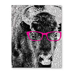 Buffalo Pink Glasses Canvas Wall Art
