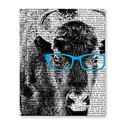 Buffalo Blue Glasses Canvas Wall Art