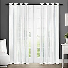 Apollo Grommet Sheer Window Curtain Panel Pair