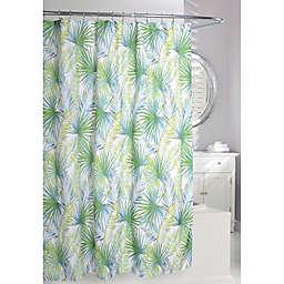 Moda Palm Tree Shower Curtain in Green/White