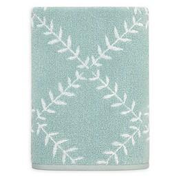 kate spade new york Fern Trellis Bath Towel in Turquoise
