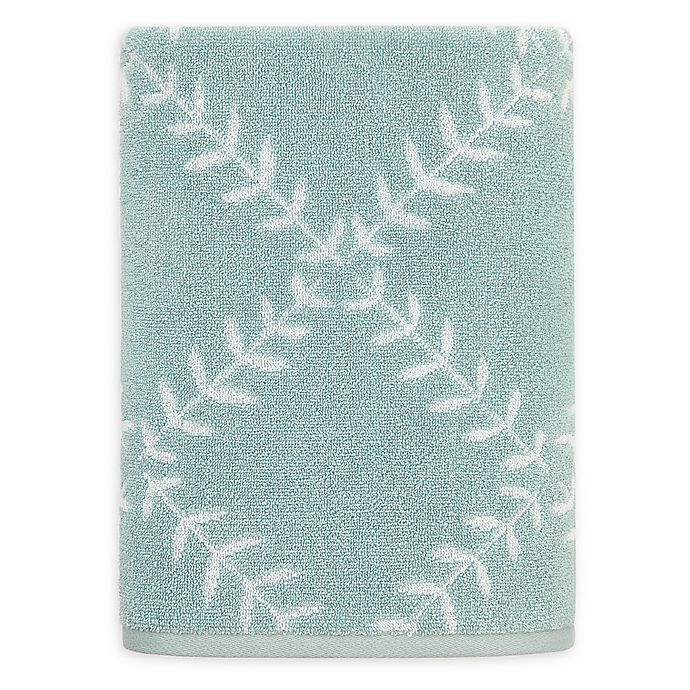 Alternate image 1 for kate spade new york Fern Trellis Bath Towel in Turquoise