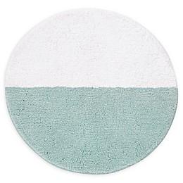 "kate spade new york 24"" Round Half Dot Bath Rug in Blue"