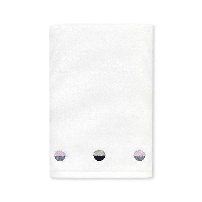 Alternate image 1 for kate spade new york Half Dot Hand Towel in White