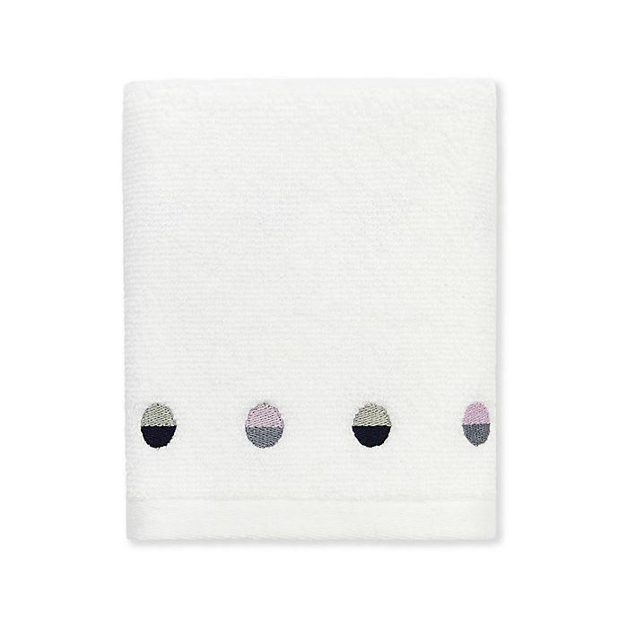 Alternate image 1 for kate spade new york Half Dot Bath Towel in White