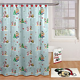 Disney® Holiday Mickey and Minnie Shower Curtain