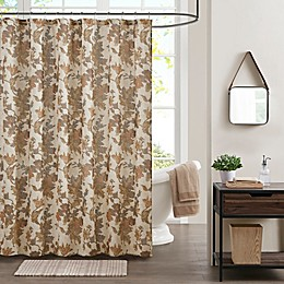 Bee & Willow™ Home Autumn Floral Shower Curtain in Brown
