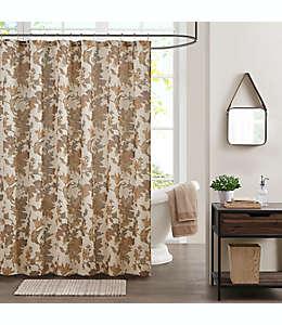 Cortina de baño de algodón Bee & Willow™ Home con diseño floral otoñal color café
