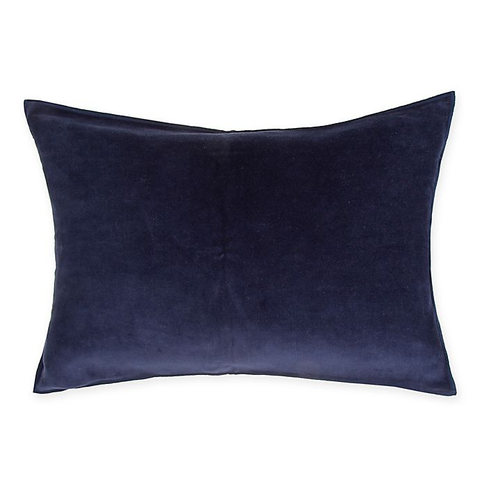 O&O by Olivia & Oliver™ Velvet Oblong Throw Pillow in Navy/Blue
