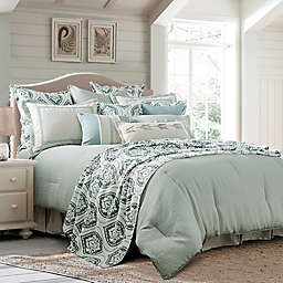 HiEnd Accents Belmont Reversible Queen Duvet Cover in Blue