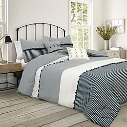 Providence 5-Piece Comforter Set in Charcoal Grey