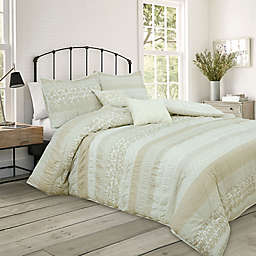Valentina 4-Piece Twin Comforter Set in Taupe