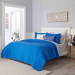 Trina Turk® Palm Desert 3-Piece Full/Queen Quilt Set in Blue Aster