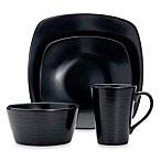 Noritake® Black on Black Swirl 4-Piece Square Place Setting
