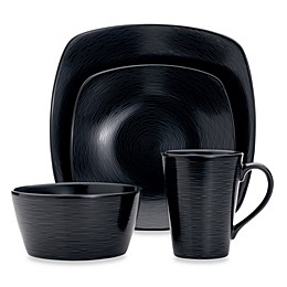 Noritake® Black on Black Swirl Square Dinnerware Collection