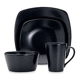 Noritake® Black on Black Snow 4-Piece Square Place Setting